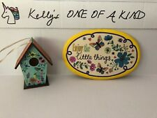 Hand Decorated Birdhouse And Plaque