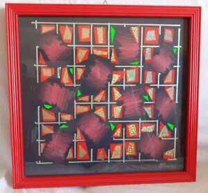 ENNIO FINZI PASTELLI E COLLAGE SU CARTONCINO 35 x 35 cm - 2012 AUTENTICA SU FOTO