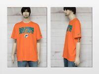 Vintage Nike NFL Miami Dolphins Just Do It Orange T Shirt  Sz XL Football 🏈