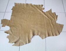L254 Lederhaut Rindleder Rest braun genarbt Vintage 0,63 qm 1,5 mm Larp Schuhe