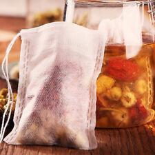 100Pcs 8x10cm Non-Woven Fabrics Muslin Drawstring Reusable Spices Herbs Tea Bags