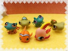 Littlest Pet Shop Sea Animal Under Water Lot Authentic Lps Frog~Fish~Turtle