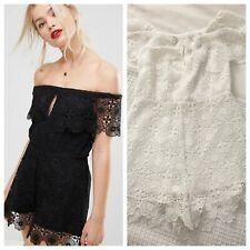 Bec & Bridge Womens White Daisy Chain Lace Playsuit Romper US Sz 2 $250 NWT