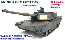 Heng Largo Abrams M1A2 De Radio Control Remoto RC Tanque 1/16 Camuflaje -- Platinum