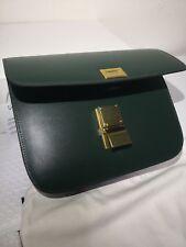 Christmas gifts! Celine Classic box Green Calfskin Medium Bag