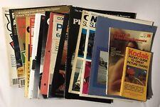 Vintage Large Lot 23 Photography Magazines Catalogs Books KODAK CANON CAMERAS