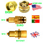 ACME to All Europe AUTOGAS GPL LPG  Refill Adapters Set,USA MOTORHOME TANK FILL