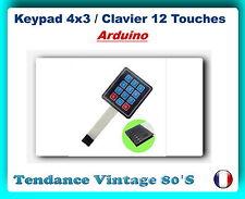 *** KEYPAD 4X3 / CLAVIER SOUPLE 12 TOUCHES AVEC CONNECTEUR / ARDUINO ***