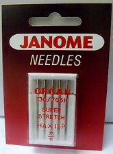 JANOME Sewing Machine SUPER STRETCH NEEDLES - SIZE 11/75 (PACK OF 5) - HA X 1SP