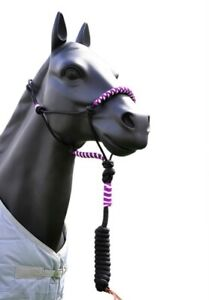 Braided Horse Rope Halter & Lead Rope Full Size