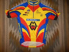 De Marchi Men's S/M ~ Blue Red Black Yellow ~ S/S Bicycle Cycling Jersey Shirt