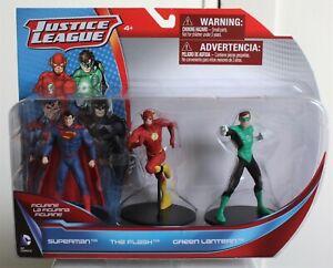DC Comics Justice League SUPERMAN, THE FLASH, GREEN LANTERN figurines