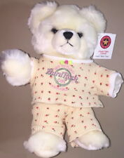 "Hard Rock Cafe PANAMA 2004 Rosebud GIRL 12"" Tall Teddy BEAR PLUSH w/ Mint TAG!"