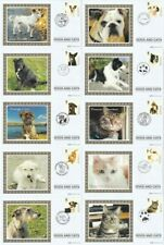 More details for 11 mar 2010 dogs & cats all 10 benham small silk bs 942 / 951 first day covers