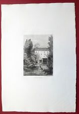 Eau-forte originale, Le moulin de Saint Maurice, Greux, Cadart, XIXe