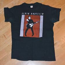 RaRe *1970's ELVIS COSTELLO* vintage rock band concert tour t-shirt (M) 1977-78