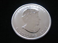 "MDS canadá/Canada 5 dollars 2012 ""maple leaf"", plata #dh1"