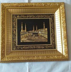Large 3D Kabbah Aytul Kursi Decoration Wall Hanging Islamic Hajj Ramadan Gift