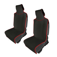 Car Seat Cushions Protector Universal Waterproof 2PCS For Cars Truck Color Red