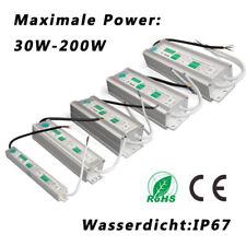 DC12V LED Trafo Transformator Netzteil Wasserdicht IP67 f. LED Strip 20-200W DHL