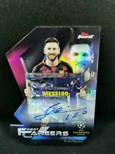 2018-19 Topps Finest UCL CAREERS AUTO #LM8 LIONEL MESSI #2/5 RARE INVEST FCB