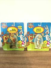 1994 Tyco Looney Tunes Wile E. Coyote And Bugs Bunny Figurine in Package Sealed