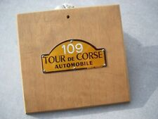 Teilnehmerschild RALLYE KORSICA - TOUR DE CORSE - Startnummer 109 - Parc fermé
