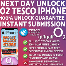 IPHONE O2 UNLOCK CODE FOR IPHONE 5 5S 6 7 8 X XR XS 11 PRO MAX PLUS O2 TESCO UK