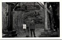 Vtg 1940's RPPC Entrance, Muir Woods, Redwood Empire Tree California CA Postcard
