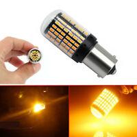 1Pc Amber Led Bulb BAU15S 1156 Turn Signal Light PY21W 144SMD Canbus Accessory