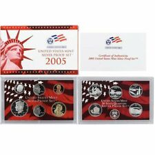 2005  US Mint SILVER Proof Set  New In Box with Certificate of Authenticity