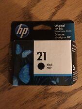 HP 21 Black Single Ink Cartridge  Exp. 4/2021 -Brand New-