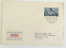 More details for switzerland 1947 maiden voyage swissair geneve to new york cover huge cat