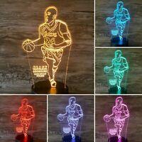 Kobe Bryant, Black Mamba, Lakers, 24, 3D LED Laser Engraved Lamp, Desk Lamp