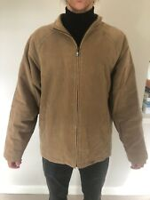 River Island Men's Coat | Large, Camel / Brown, Cotton Shell, Polyester Lining