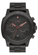 NIXON Ranger Chrono Watch - A549 957 - All Black/Rose Gold