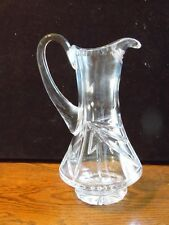 Vintage Clear Heavy Pressed Glass 2 Cup Pitcher