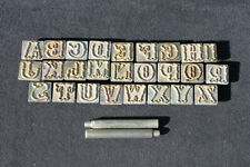 """Vintage Baron Tool? 1"""" Alphabet Leatherworking Stamp Set 26 Stamps / 2 Punches"""