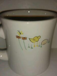 Vintage 2002 HausenWare Collectible Coffee Mug Chick Egg Flower - Tea - 8 oz