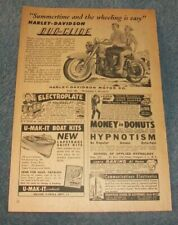 "1958 Harley-Davidson Duo-Glide Vintage Ad ""Sumertime and the Wheeling is Easy"""