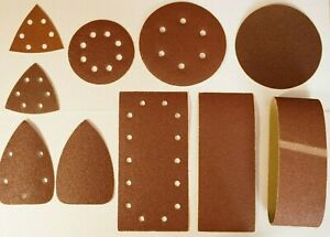 Sanding Belts Sheets Discs Triangles for Wood Metal Painted areas 40-240 Grit