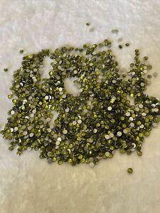 Over 1000 Ss16 Olivine Swarovski Crystals ,Flat back, Rhinestones, Crafts .