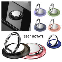 Luxury Metal Phone Bracket Holder Universal 360° Rotating Stand Finger Ring Acc