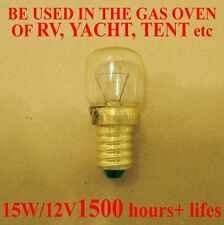 WSDCN E14 T22 15W 12V Oven Bulb Oven Lamp Heat Resistant Bulb 300'C