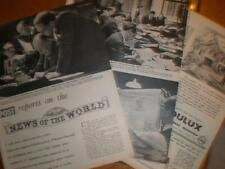 Photo article on News of the World newspaper 1953 UK