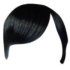 Fringe Bang Clip en extensiones del pelo Recto Negro # 1b Frontal
