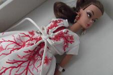 Gold Label Genuine Silkstone Body Palm Beach Coral Barbie Doll & Accessories
