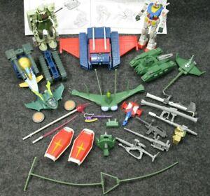 BanDai Gundam G-Fighter and Zaku & Magella Attack Tank Pieces Parts Lot