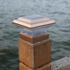 Waterproof Garden Solar Powered LED Post Deck Pillar Fence Light Landscape Lamp