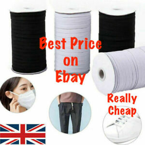 Lady Luck3: 5mm Elastic Cord, Stretchy, DIY Sawing. Black and White. Uk Stock.